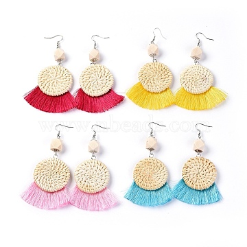 Mixed Color Mixed Material Earrings