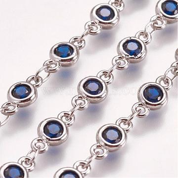 MarineBlue Brass+Glass Handmade Chains Chain