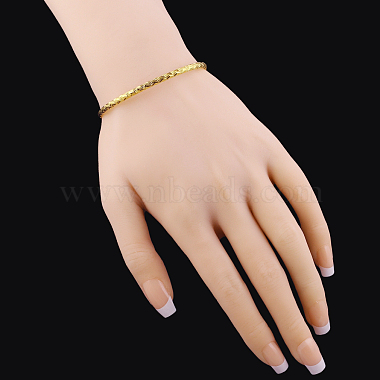 Perfect Design Real 18K Gold Plated Brass Torque Cuff Bangle(BJEW-EE0001-05)-4