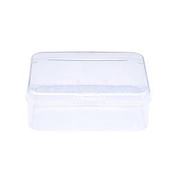 Square Plastic Bead Storage Containers, Clear, 8.2x8.2x2.7cm