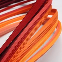 Bandes de papier quilling de 6 couleurs, rouge progressive, 390x3mm; à propos 120strips / sac, 20strips / couleur(X-DIY-J001-3mm-A01)