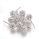 Sexy Valentines Day Gifts for Her Sterling Silver Austrian Crystal Rhinestone Ball Stud Earrings(Q286J011)-1