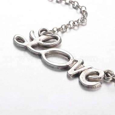 Tibetan Style Moon Alloy Pendant Necklaces(NJEW-JN01180)-4