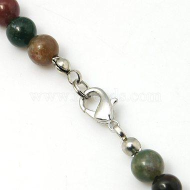 Natural Indian Agate Bib Statement Necklaces(NJEW-G108-02)-3