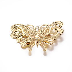 Iron Shoe Buckle Clips, Butterfly, Golden, 42x59.5x3.5mm(IFIN-G072-03G)