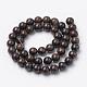 Natural Bronzite Beads Strands(G-S272-01-8mm)-2