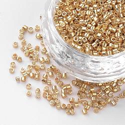 Perles de bugle en verre plaqué, burlywood, 1~2x1.5~2mm, trou: 0.5 mm; environ 100 g / sac(SEED-R043-10)