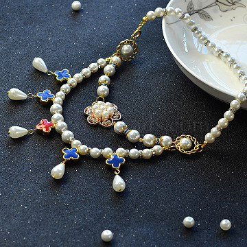DIY Necklace Kits, Two Tiered Necklaces, Mixed Color, 39mm(DIY-JP0003-10)