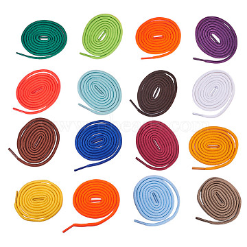 NBEADS Polyester Cord Shoelace, Mixed Color, 4mm; 1m/strand;  62strands/set(AJEW-NB0001-27)