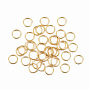 Golden Ring Stainless Steel Close but Unsoldered Jump Rings(X-STAS-H396-A-01G)