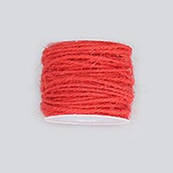 Corde de chanvre, chaîne de chanvre, ficelle de chanvre, pour la fabrication de bijoux, cramoisi, 2 mm; 50 m / rouleau(OCOR-WH0002-A-15)
