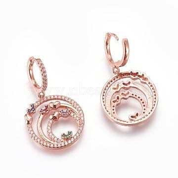 Colorful Brass Earrings