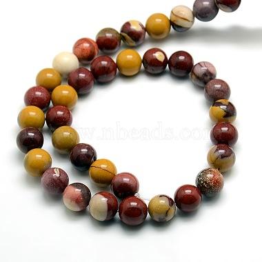 Round Natural Mookaite Beads Strands(G-P062-65)-2