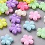 Mixed Color Flower Acrylic Beads(TACR-S154-39D)