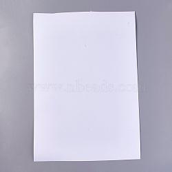 papier d'impression adhésif de film de PVC, blanc, 29x21x0.01 cm(AJEW-WH0096-77B)