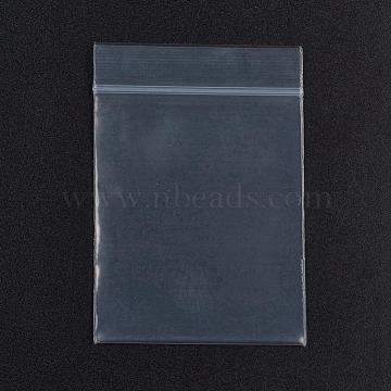 Plastic Zip Lock Bags, Resealable Packaging Bags, Top Seal, Self Seal Bag, Rectangle, White, 7x4.9cm; 100pcs/bag; Unilateral Thickness: 0.1mm; Inner Measure: 4.8x5.9cm; 100pcs/bag(OPP-G001-B-5x7cm)