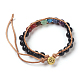 Natural Tiger Eye Cord Beaded Bracelets(BJEW-E351-02G)-3