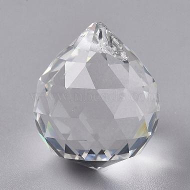 Clear Teardrop Glass Pendants