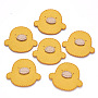 Faux Suede Cabochons, Duck, Yellow, 40x45x3mm