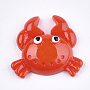 Resin Cabochons, Crab, Red, 24x27x7.5mm