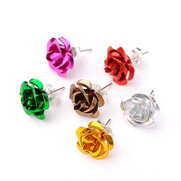 Mixed Color Aluminum Stud Earrings