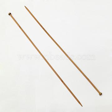 Bamboo Single Pointed Knitting Needles, Peru, 400x10x4mm; 2pcs/bag(TOOL-R054-4.0mm)