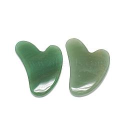 Natural Green Aventurine Gua Sha Boards, Scraping Massage Tools, Gua Sha Facial Tools, Heart, 81~84x58~60x7~8mm(X-G-S336-57A)