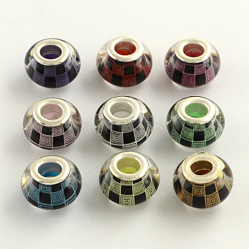 14mm Mixed Color Rondelle Acrylic Beads