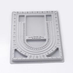 пластиковые шарики, для поделок ювелирных изделий, серый, размер: около 24 cm в ширину, 33 cm, 1 cm(X-TOOL-H003-1)