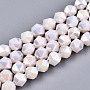 Old Lace Round Glass Beads(X-EGLA-T019-05W)