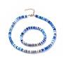 Bleu Fimo Bracelets & Colliers(SJEW-JS01103-04)