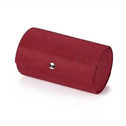 Présentoirs de bijoux, boîtes de pesentation, recouvert de velours et de panneaux de fibres, rouge, 13.5x7.5 cm(ODIS-TA0001-01D)