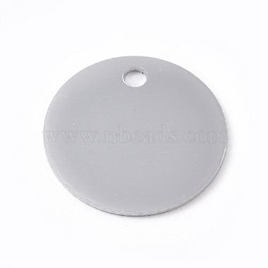 Silver Flat Round Aluminum Pendants