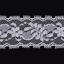 dentelle ruban nylon garniture pour la fabrication de bijoux, blanc, 1-3 / 8 (36 mm); à propos de 300 yards / rouleau (274.32 m / roll)(ORIB-F003-100)