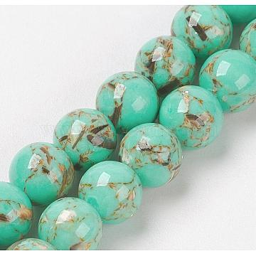 4mm MediumTurquoise Round Synthetic Turquoise Beads