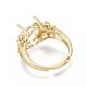 Environmental Adjustable Brass Finger Ring Components(MAK-F030-13G-NR)-3