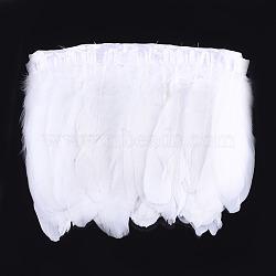 обрезка гусиных перьев, аксессуары костюма, окрашенный, белый, 145~195 мм; о 2 м / мешок(FIND-T037-05L)