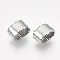 304 Stainless Steel Slide Charm, Rectangle, Stainless Steel Color, 5x8x5mm, Hole: 3x6mm(X-STAS-T045-36P)