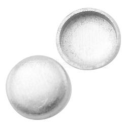 Support à cabochon en laiton, sans plomb et sans cadmium, matériel de bricolage pour les accessoires de cheveux, plat rond, couleur argentée, taille: environ 5mm de diamètre, Plateau: 4 mm(X-KK-1287-S)