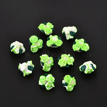 23mm Colorful Flower Polymer Clay Beads