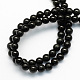 Natural Obsidian Round Beads Strands(X-G-S156-6mm)-2
