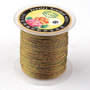 Round Metallic Cord, 12-Ply, Colorful, 1mm, about 54.68 yards(50m)/roll(MCOR-L001-1mm-24)
