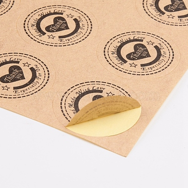 Self-Adhesive Kraft Paper Gift Tag Stickers(DIY-D028-01A-01)-3