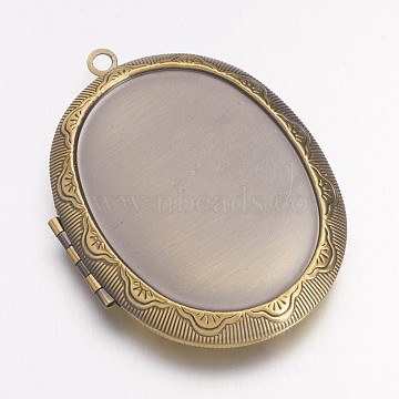 Antique Bronze Oval Brass Pendants