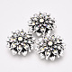 Alloy Rhinestone Snap Buttons(X-SNAP-T001-95)-1
