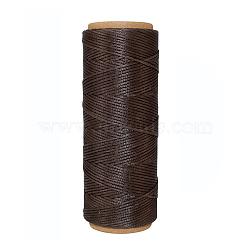 Cordons de fils en polyester, coconutbrown, 1 mm; environ 50 m/rouleau(YC-E001-1mm-01H)