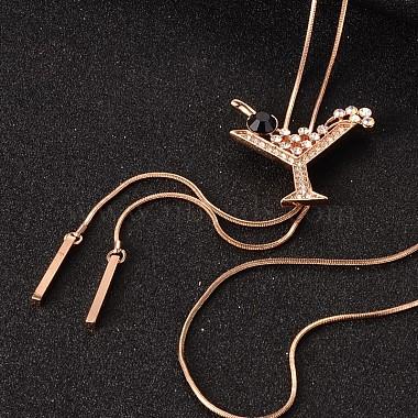 Black Rhinestone Necklaces