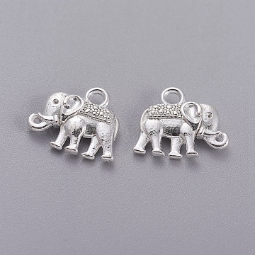 Silver Elephant Alloy Charms