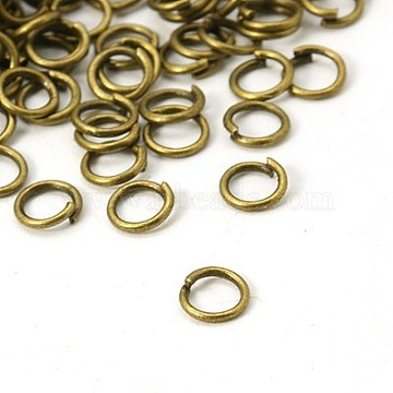 Antique Bronze Iron Close but Unsoldered Jump Rings
