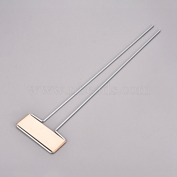 Brass Plant Labels, for Seed Potted Herbs Flowers Vegetables, Rose Gold, 255x66x2.3mm(IFIN-WH0051-89)